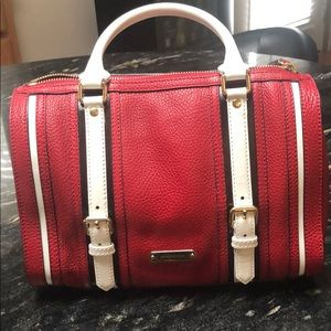 100% Authentic Burberry Bag Red/White